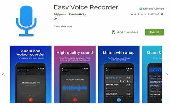 easy voice recoders