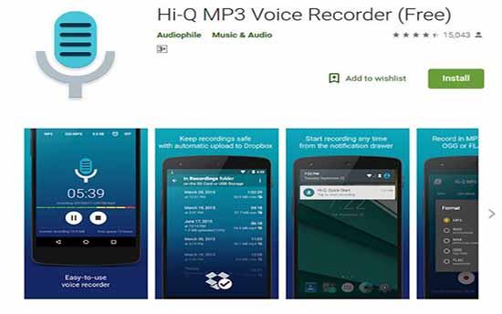 hi q mp3 voice recorder