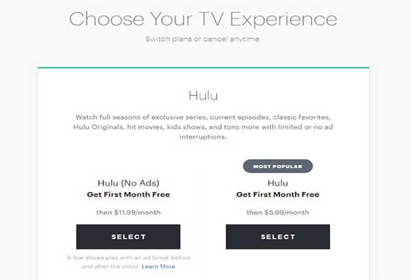 hulu without commercials