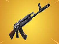 gold ak assault rifle