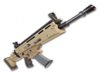 gold scar assault rifle
