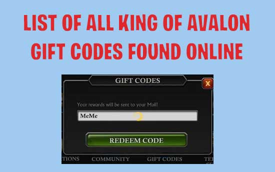 King of Avalon Gift Codes : List of All Old and New KOA Gift