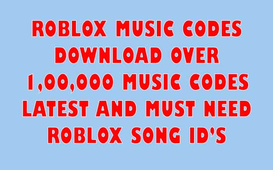 Download Roblox Music Codes