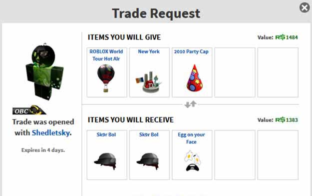 How To Trade In Roblox Without Bc 2019