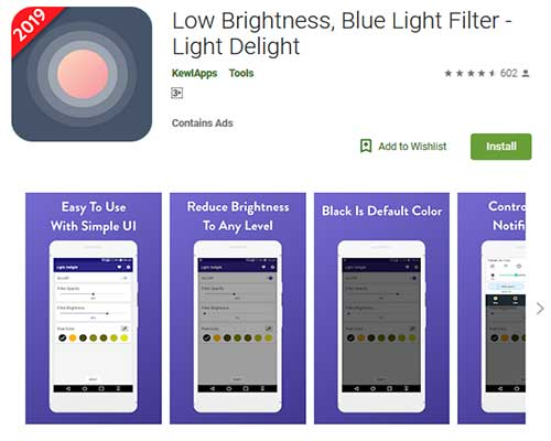 best blue light filter app for android