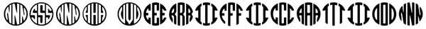 free circle monogram font