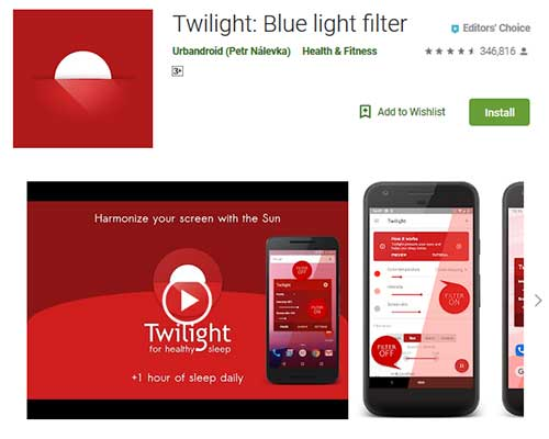 best blue light filter app
